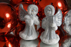 Silver angels Stock Photos