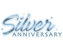 Silver Anniversary Royalty Free Stock Image