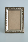 Silver antique frame Stock Images