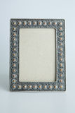 Silver antique frame Royalty Free Stock Photo