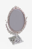 Silver antique mirror isolate Royalty Free Stock Image