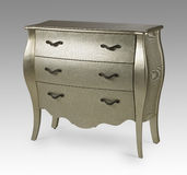 Silver antique ornate chest of drawers Stock Photography