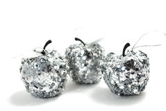 Silver apples Stock Photos