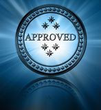 Silver approved stamp Stock Images