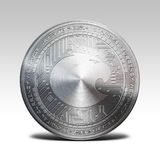 Silver aragon coin isolated on white background 3d rendering Stock Photo