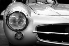 Silver arrow. An old luxury German oldtimer royalty free stock image