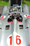 Silver arrow racing car: Mercedes-Benz W196R Streamliner body - cockpit view Stock Image