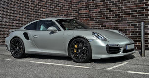 Silver Porsche 911 Stock Photography