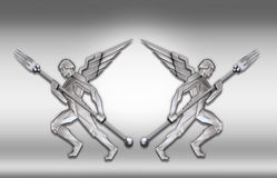 Free Silver Art Deco Angel W/fork Frame Stock Photography - 3837022