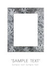 Silver art frame Stock Photography
