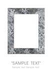 Silver art frame Stock Photography