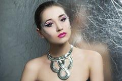 Silver art woman Stock Photos