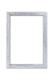 Silver arts pattern picture frame isolated on white with clipping path Stock Images