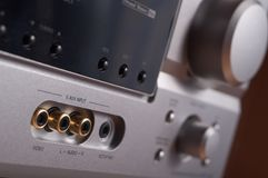 Silver audio amplifie Royalty Free Stock Photography