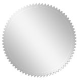 Silver award. An illustration of a metallic cogwheel / gear, isolated on a white background Royalty Free Stock Photos