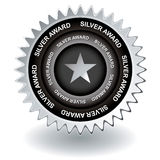 Silver award icon Stock Photography