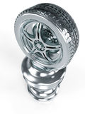 Silver Award Wheel. Silver wheel award isolated on white background Stock Image