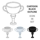 Silver award winner of the competition.The Cup for second place.Awards and trophies single icon in cartoon style vector. Symbol stock web illustration Royalty Free Stock Image