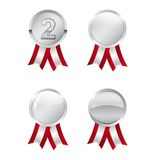 Silver awards. In different styles isolated on white background Royalty Free Stock Photography