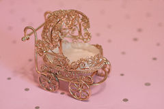 Silver baby buggy Royalty Free Stock Photo