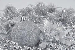 Silver background ball Royalty Free Stock Photography