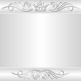 Silver background. With crown - vector illustration Stock Images