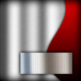 Silver  background of metal texture Stock Photos