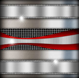 Silver background of metal texture Royalty Free Stock Photos