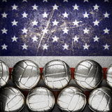 Silver background painted to US flag Royalty Free Stock Image