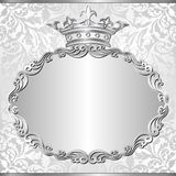 Background. Silver background with royal frame Royalty Free Stock Images