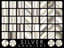 Silver background texture vector icon seamless pattern. Light, realistic, elegant, shiny, metallic and silver gradient illustratio. N. Mesh vector. Design for Stock Photos