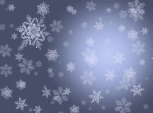 Silver backgroung with snowflakes Stock Images