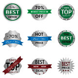 Silver badges and labels Stock Photography