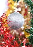 Silver ball as a decoration Stock Image
