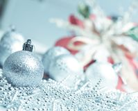 Silver ball for Chirstmas Stock Image