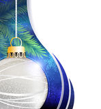Silver ball Christmas tree decoration Stock Photo