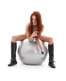 Silver ball rider Royalty Free Stock Photos