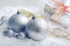 Silver balls. ? decoration for cristmas Stock Images