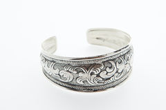 Silver bangle Stock Image