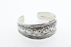 Silver bangle Stock Image