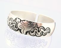 Silver bangle Royalty Free Stock Photos