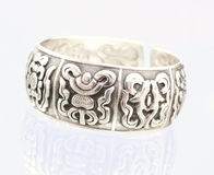 Silver bangle. This is a silver bangle with reflection Royalty Free Stock Photography