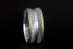 Silver bangles and Gents kada & x28; Band & x29; Royalty Free Stock Photo