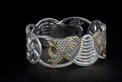 Silver bangles and Gents kada & x28; Band & x29; Royalty Free Stock Image