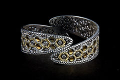 Silver bangles and Gents kada & x28; Band & x29; Stock Photos
