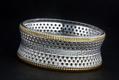 Silver bangles and Gents kada & x28; Band & x29; Stock Photography