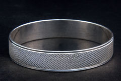 Silver bangles and Gents kada & x28; Band & x29; Royalty Free Stock Photography