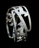 Silver Bangles. WhiteAngle New Design& x27;s +91 98035 61775 Stock Photo