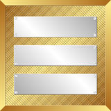 Silver banners Stock Photos