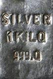 Silver bar. 1 kilo 999 fine silver bar royalty free stock image